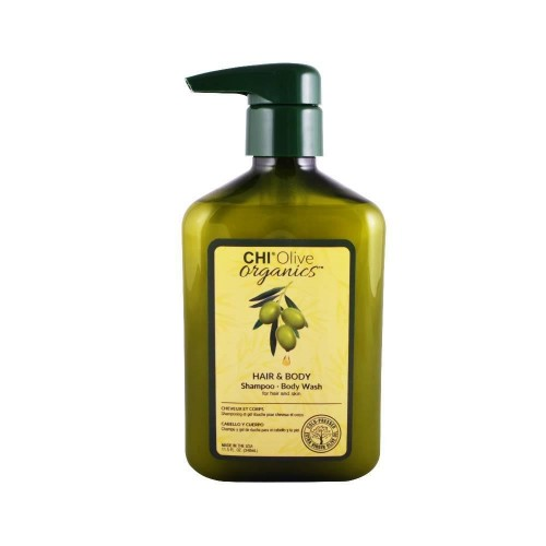Шампунь с оливой Olive Organics Olive & Silk Hair and Body Oil 340ml